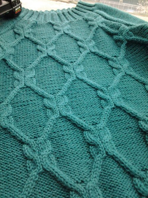 Rhombus Aran Cool Knitting Pattern Pinterest Knitting