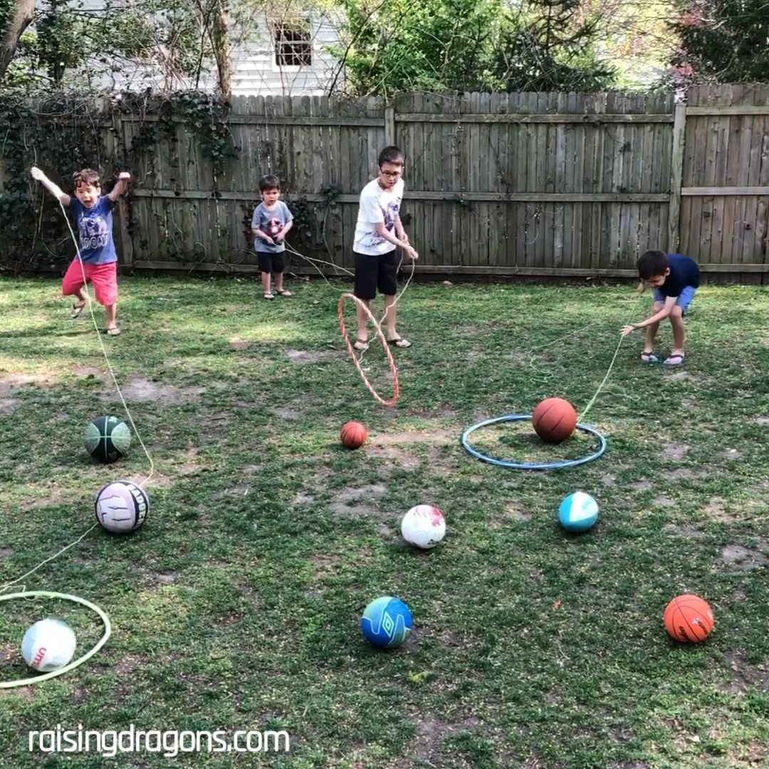 Here's a fun, outdoor activity that will keep kids moving and having fun! #summerfun #outdoorgames