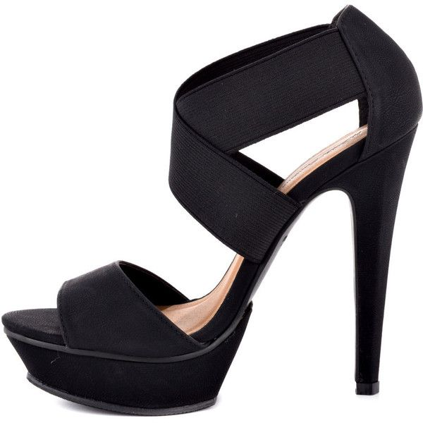 Michael Antonio Tamms Pu - Black ($60) ❤ liked on Polyvore