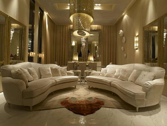 Home and Style by Luxury Group, Inc. Brooklyn, NY - Would be fabulous in the fabric of your choice - Visionnaire IPE Cavalli Ginevra Luxury Italian Designer Fabric Sofa