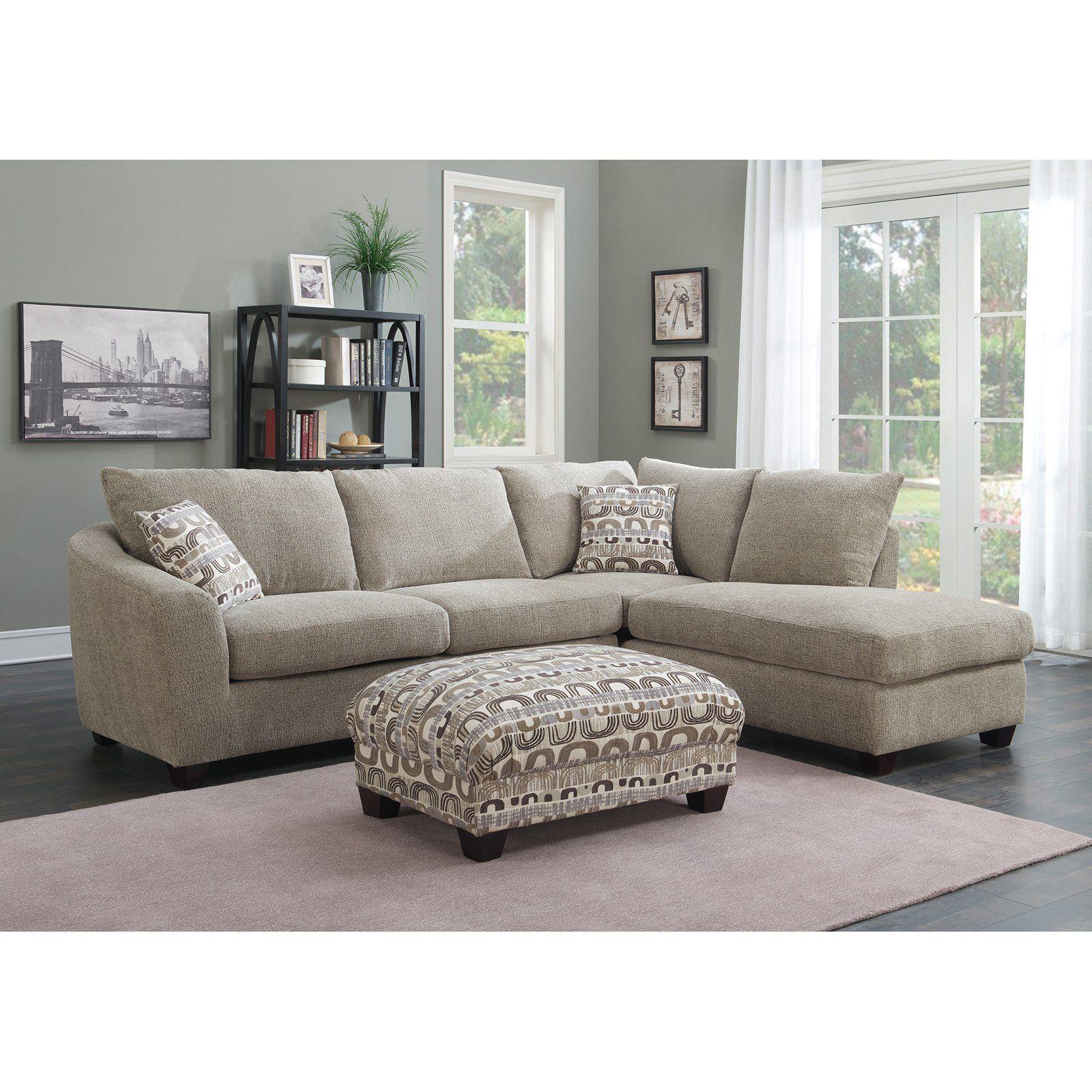 Emerald Home Urbana 2 Piece Sectional Sofa with Chaise Bone ...