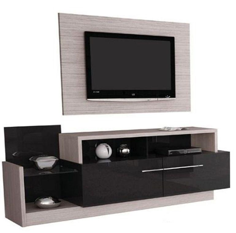Mueble de tv lcd bajo con cajones panel para lcd l021 mla - Mueble para television ...