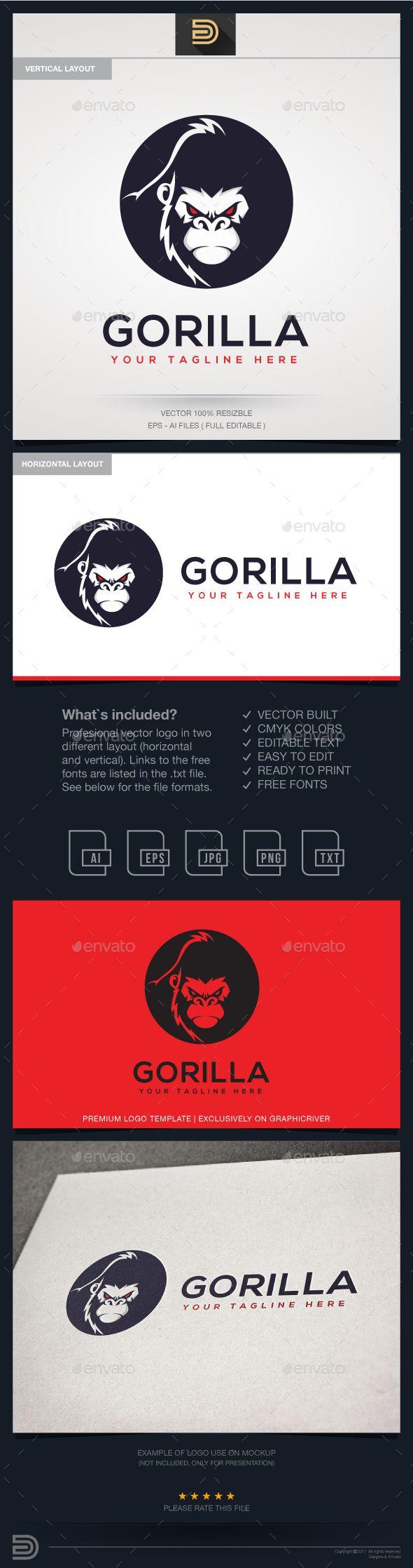 gorilla logo template logo templates animal logo and logos