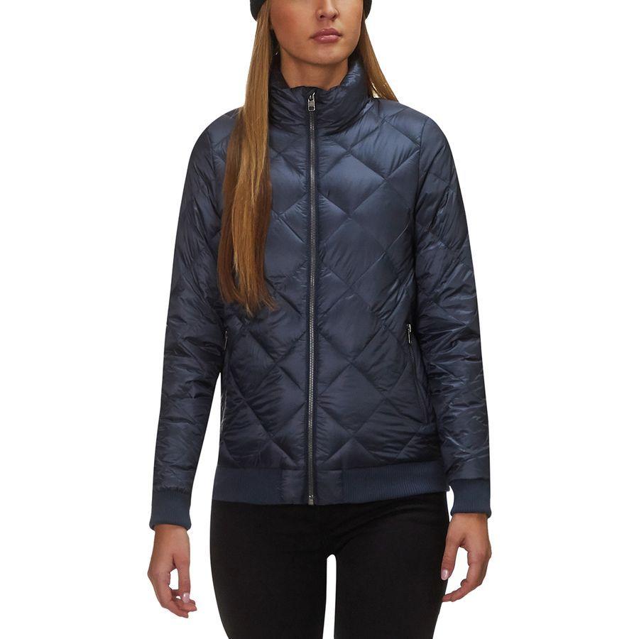 Patagonia Prow Bomber Down Jacket Women S Smolder Blue Jackets Jackets For Women Down Jacket [ 900 x 900 Pixel ]