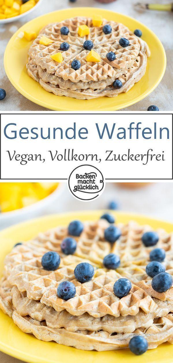 Vegane Waffeln ohne Ei und Zucker   Backen macht glücklich