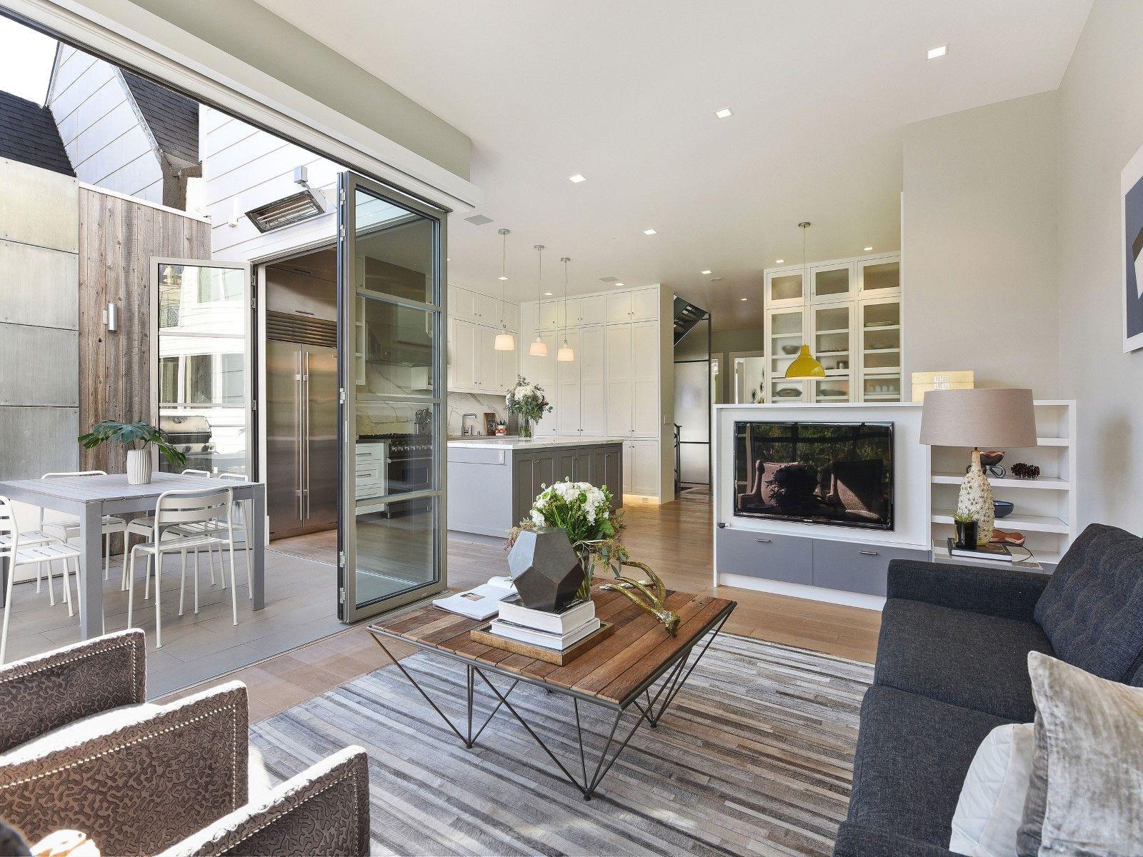 Noe Valley Award Winning Remodel Home, Living room