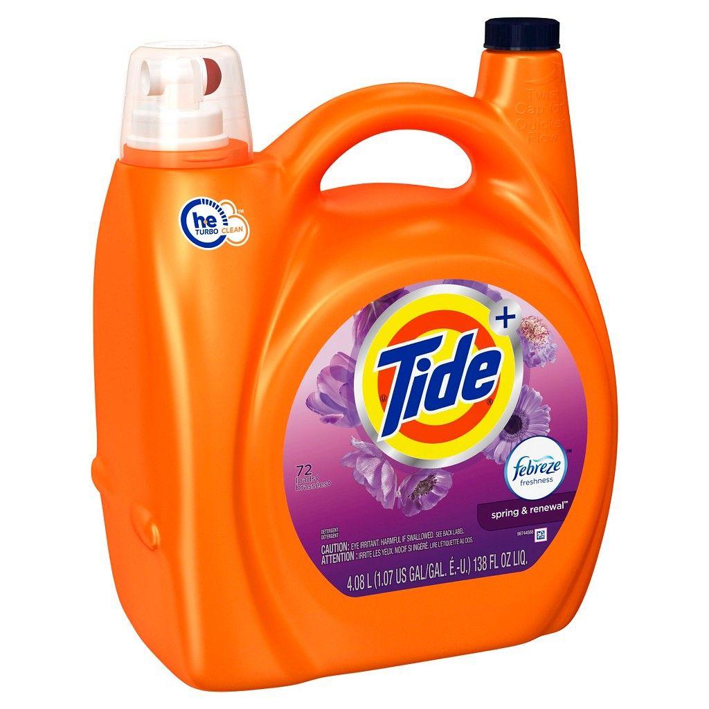 Tide Plus Febreze Spring Renewal High Efficiency Liquid Laundry