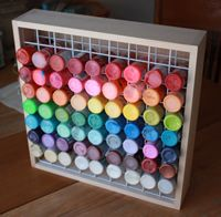 Wooden Craft Paint Storage Rack & Wooden Craft Paint Storage Rack | Storage u0026 Organization | Pinterest ...
