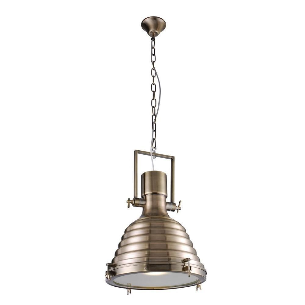 Elegant lighting industrial light antique brass pendant lamp