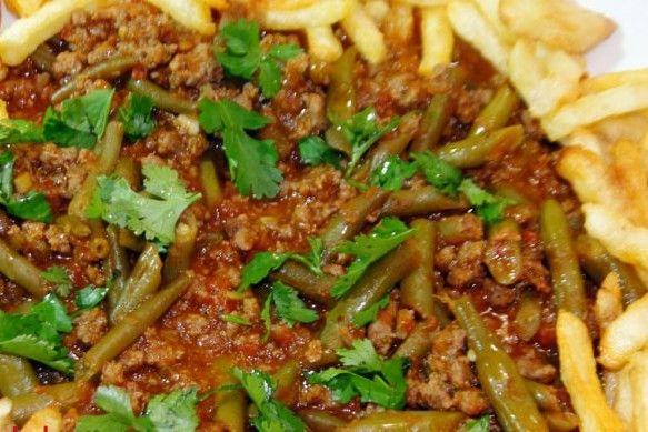 طريقة عمل اللوبيا الخضراء باللحمة المفرومة Food And Drink Food Beef