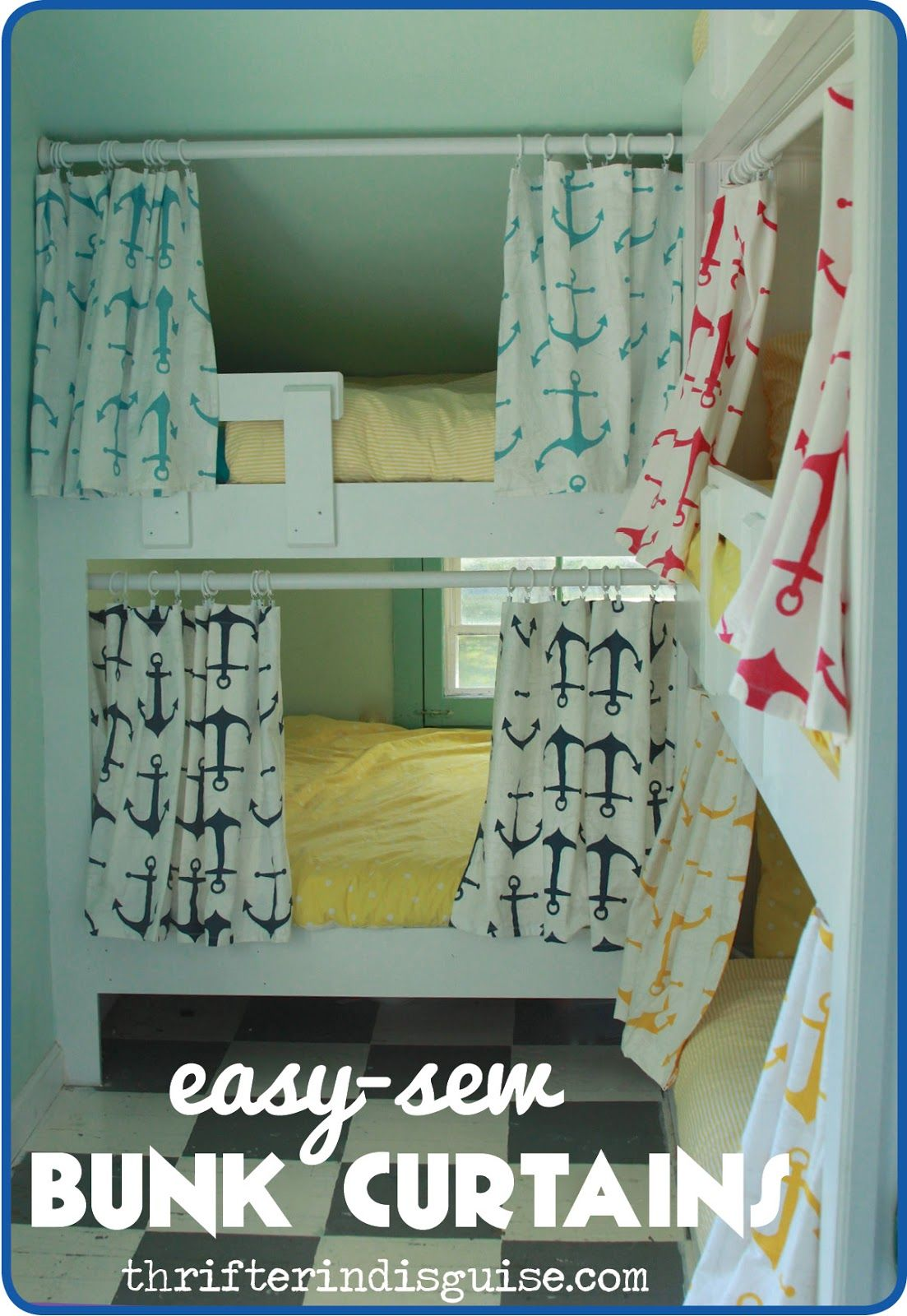 Easy Sew DIY Bunk Bed Curtains