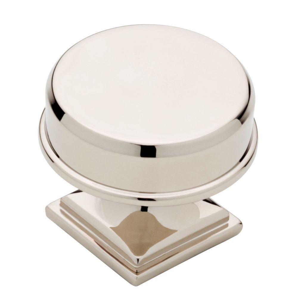 Liberty 1-1/5 in. Polished Nickel Round Elegant Cabinet Knob ...