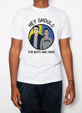 89a752613e6 BuzzFeed Unsolved Hey Ghouls Crew Neck T-Shirt