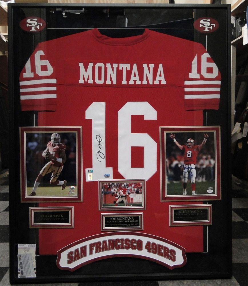 brand new 4d7a6 2e35f Details about FRAMED SAN FRANCISCO 49ERS JOE MONTANA ...