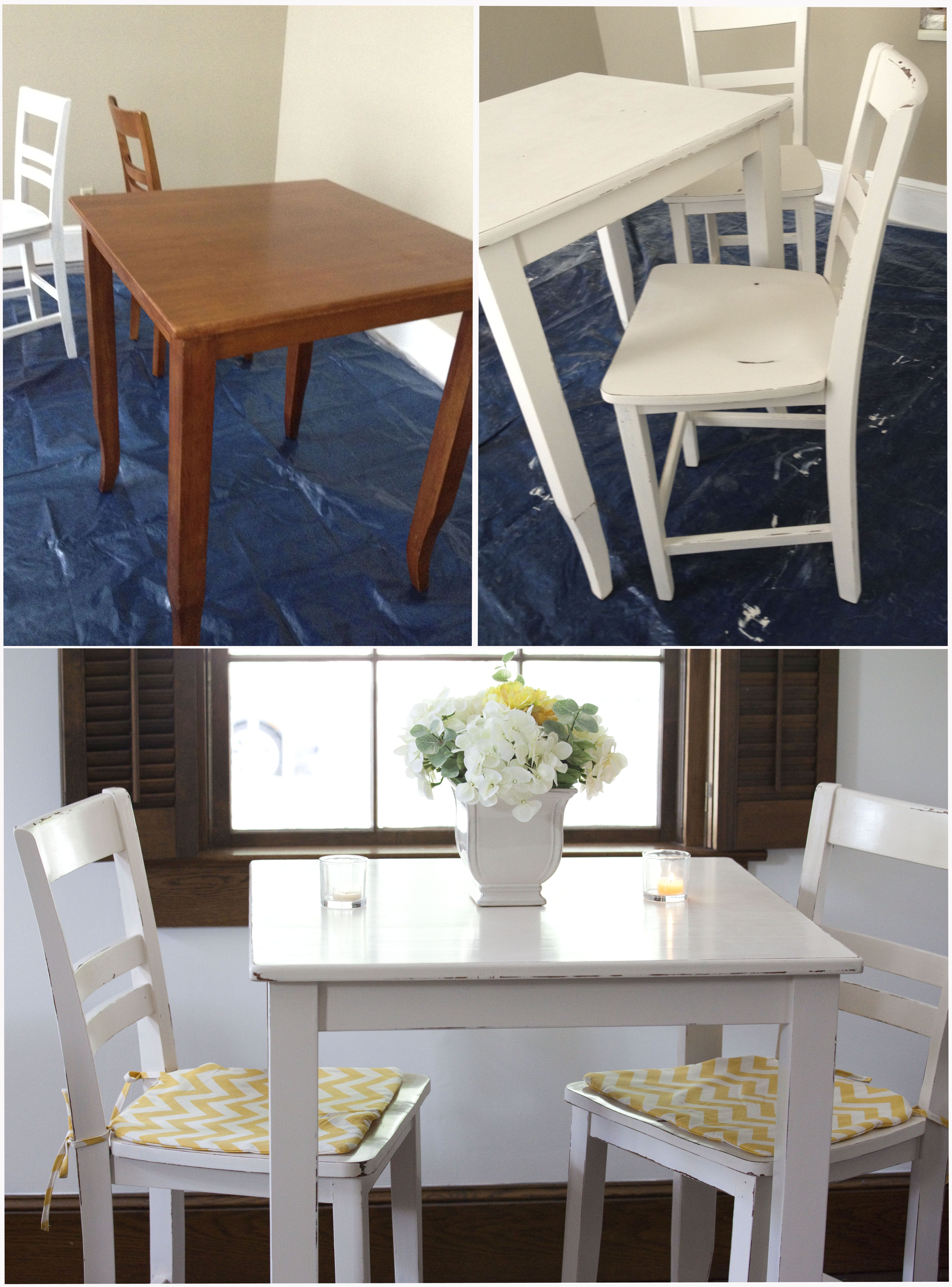 White Distressed Kitchen Table Re Finished Boring Brown Pub Table With Chalk Paint Distressed