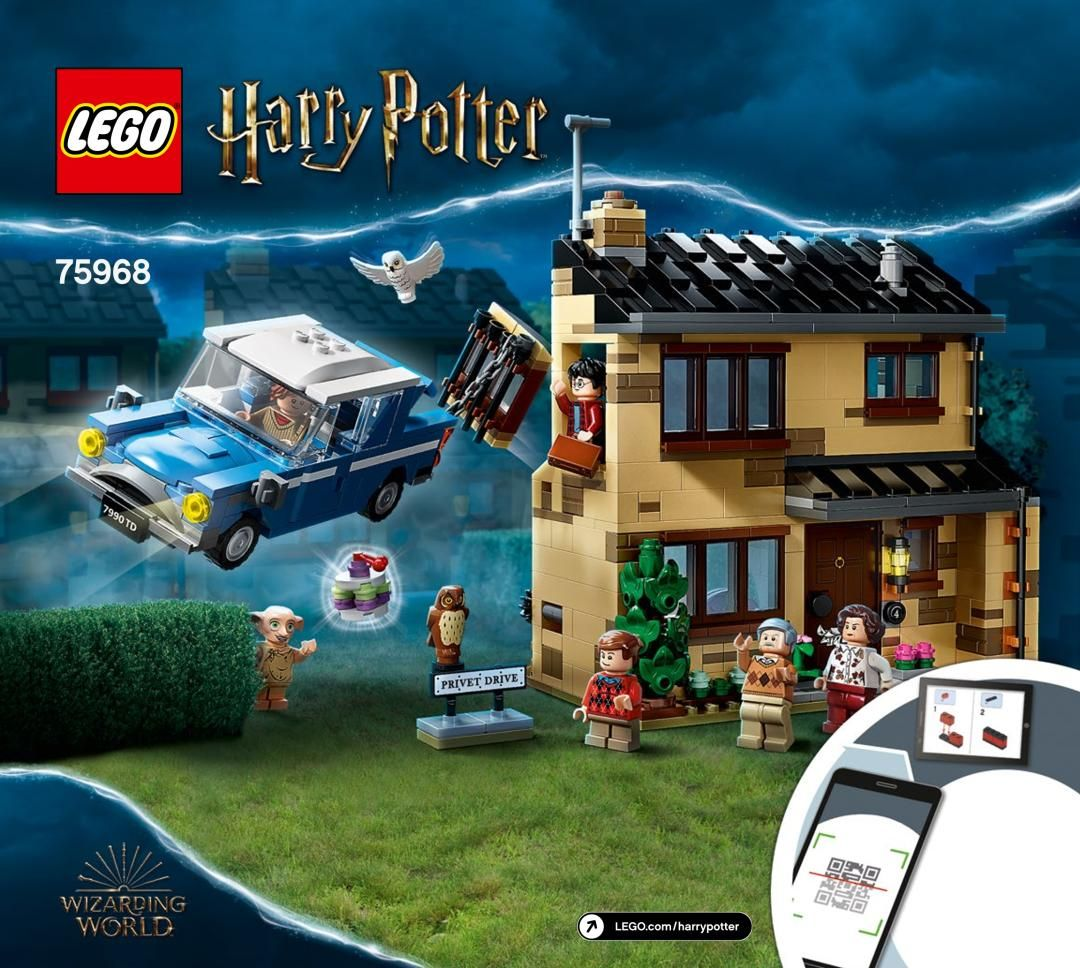 Building Instructions Instructions De Montage Lego 75968 4 Privet Drive Lego Lego Harry Potter Harry Potter Lego Sets