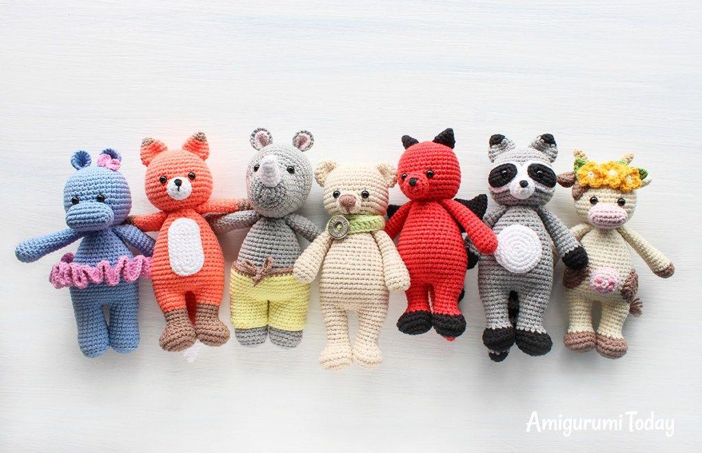 Cuddle Me Rhino Amigurumi Pattern Crochet Dolls Free Patterns