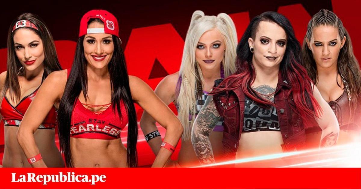 WWE RAW EN VIVO vía FOX Sports 2 The Bella Twins contra