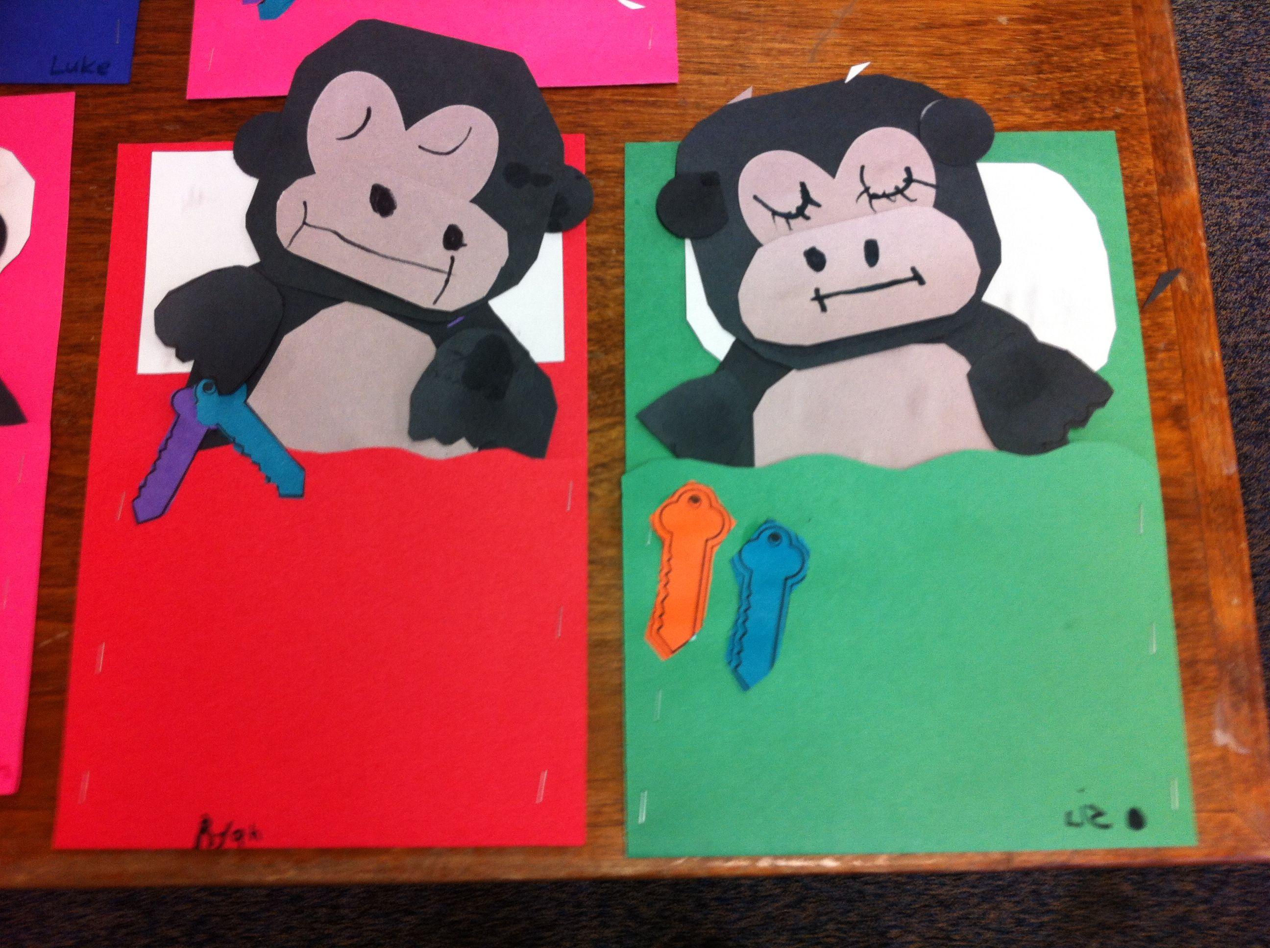 Goodnight Gorilla craft  :)   Kindergarten Kreations   Gorilla craft