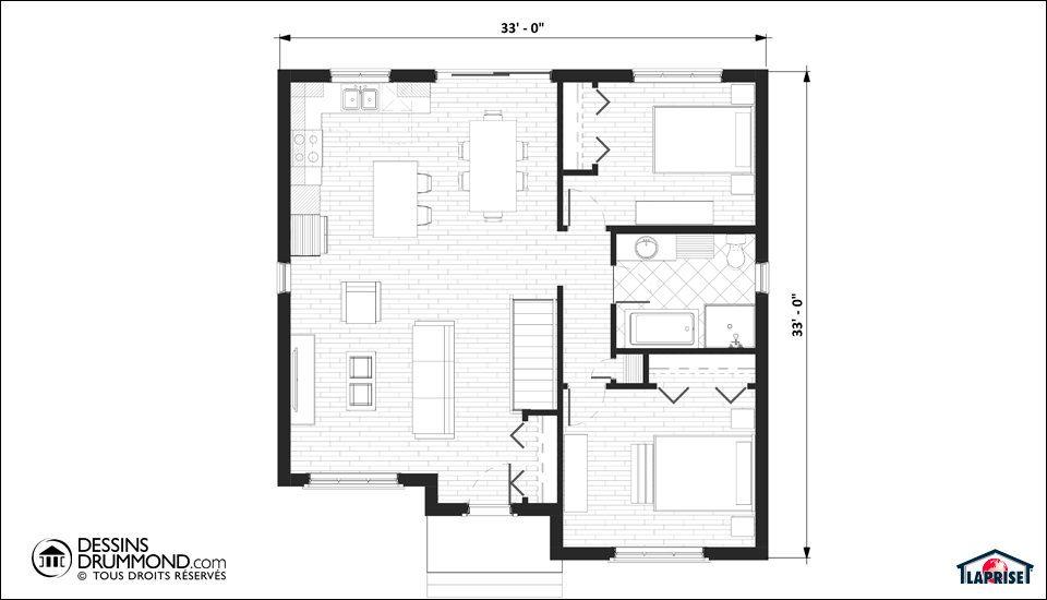 Classique champ tre lap0232 maison laprise maisons for Architecture traditionnelle scandinave