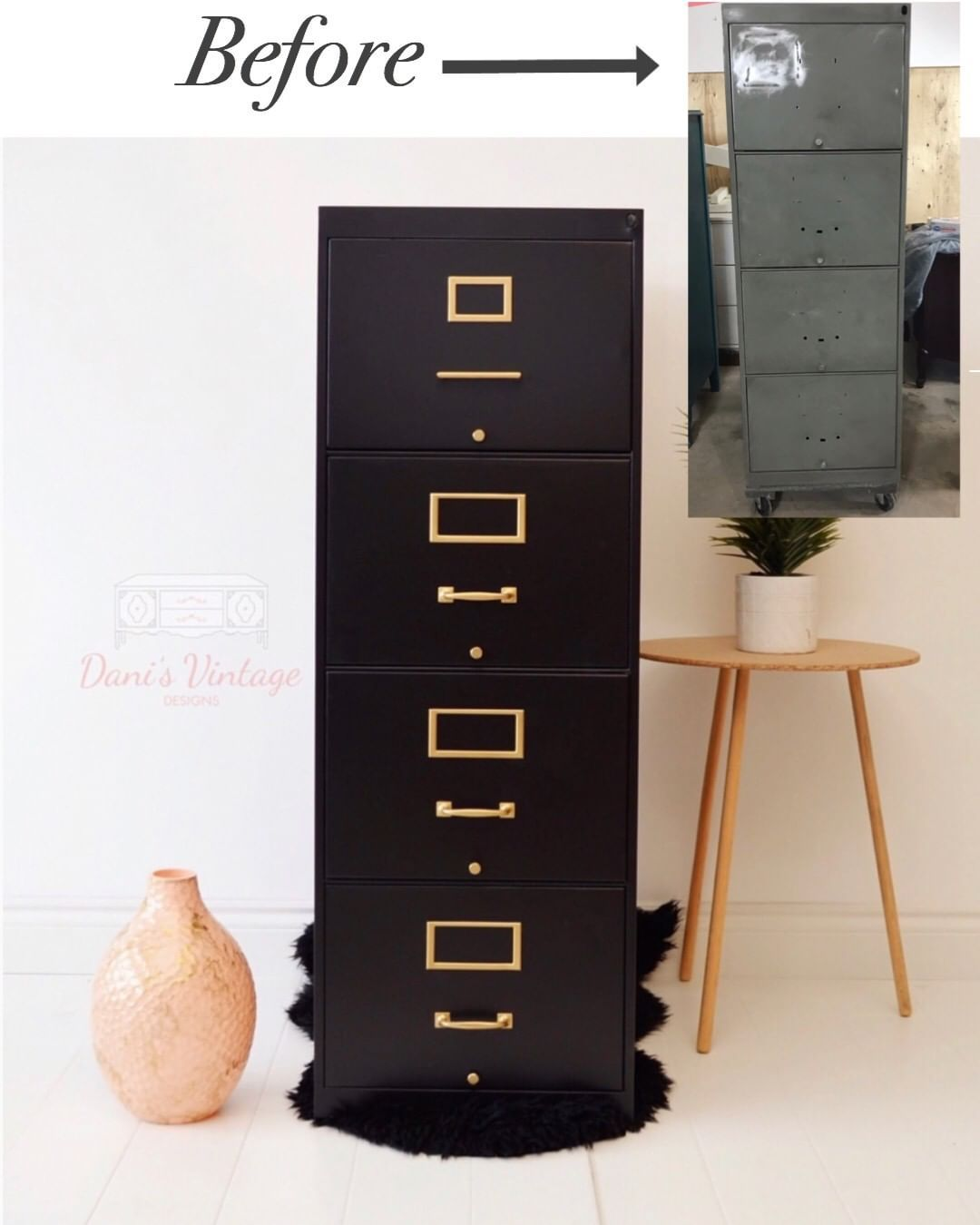 I Never Realized A Black Filing Cabinet Could Look So