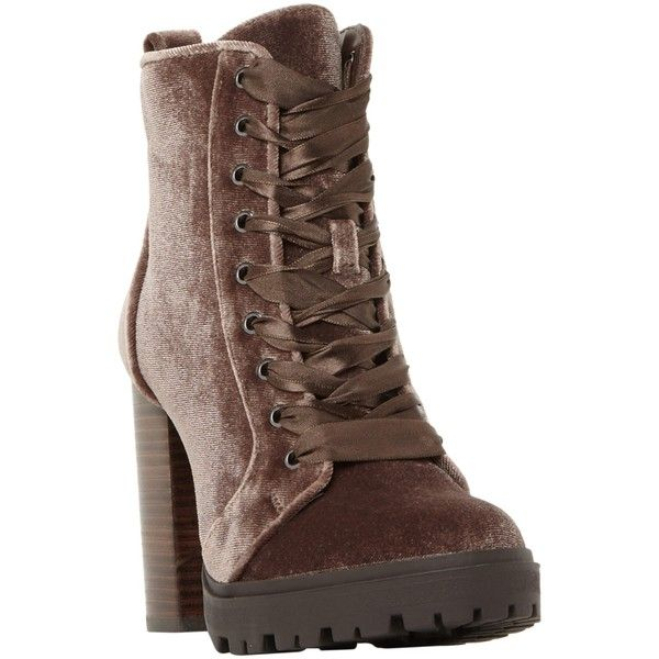 Taupe 'Laurie' high block heel ankle boots cheap geniue stockist w2akJJH