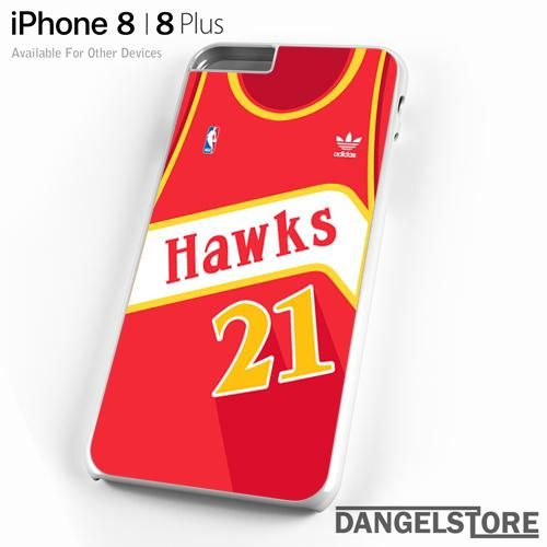3951d1e1f38 hawks basketball jersey For iPhone 8