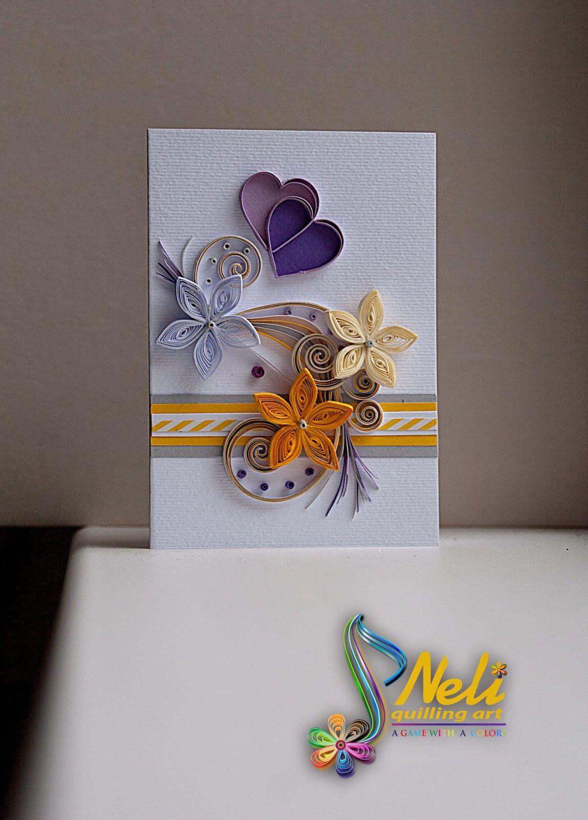 neli: Quilling cards /10.5 cm - 7.5 cm/