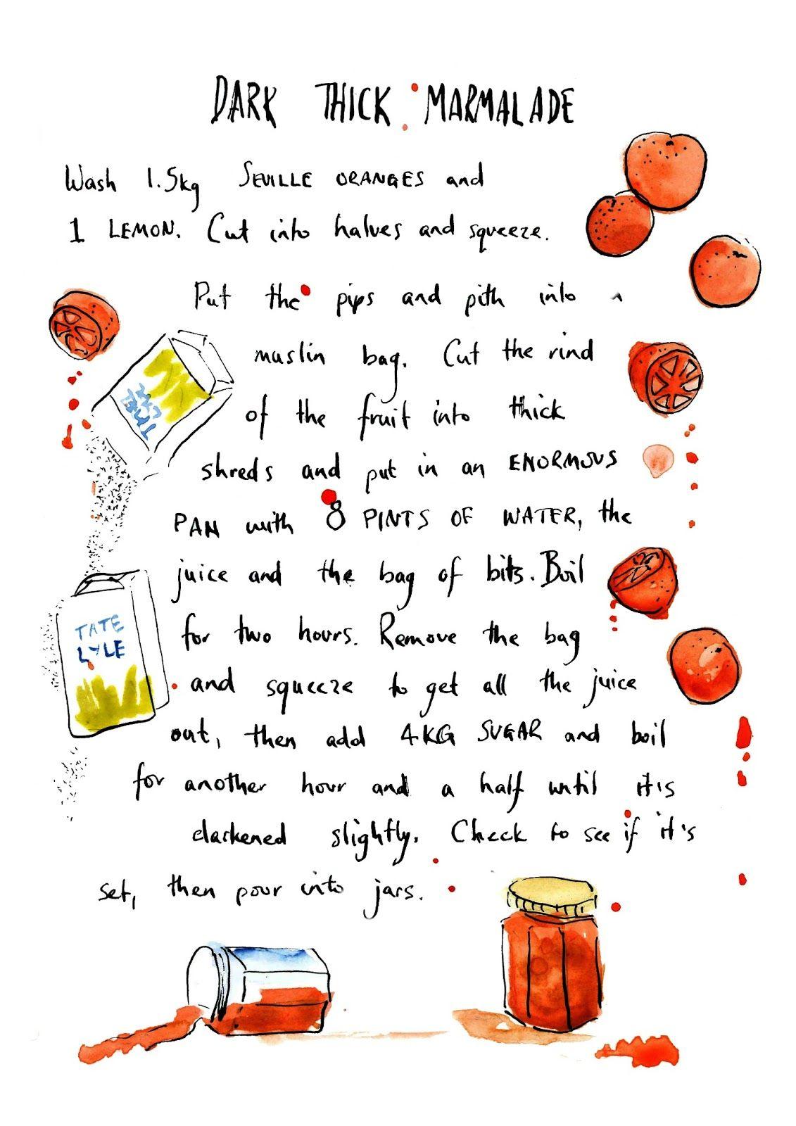 Illustrated marmalade recipe
