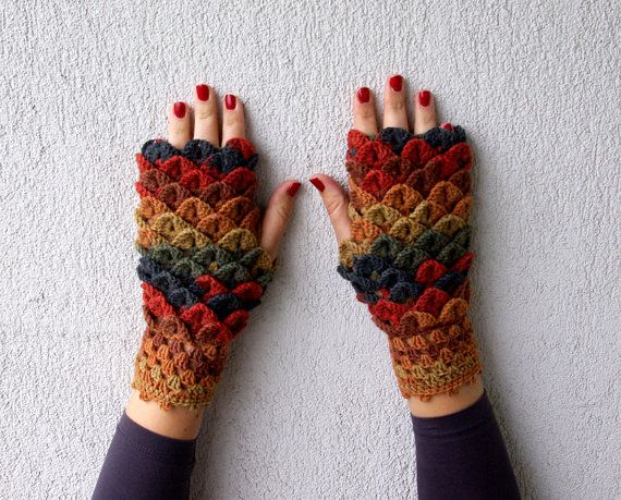 Fingerless Gloves Handmade arm warmers Winter glowes Wrist warmers ...