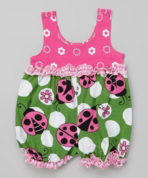 Loving this Green Ladybug Baby Bubble Bodysuit - Infant on #zulily! #zulilyfinds