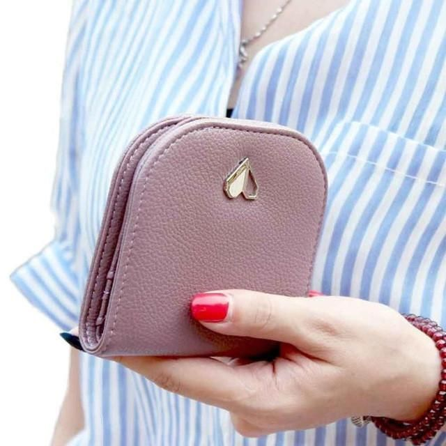 Xiniu Women Wallets Leather Card Holder portable Mini Bifold Wallet Ladies Purse carteras mujer #LREW
