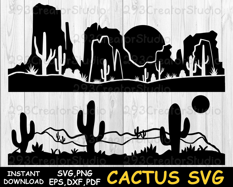 Desert Cactus Svg Arizona Desert Svg Texas Desert Svg Desert Etsy In 2021 Cactus Clipart Mountain Svg Cactus Silhouette