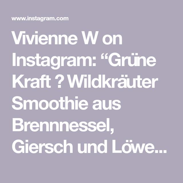 Vivienne W On Instagram Grune Kraft Wildkrauter Smoothie Aus Brennnessel Giersch Und Lowenzahn Zusammen Mit Banane Ge In 2020 Brennnessel Gerstengras Giersch