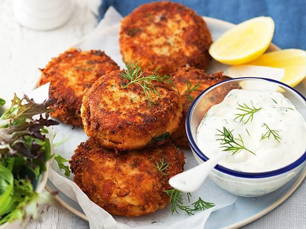 """""""This recipe was originally cooked in the microwave. I followed the suggestion from another member and cooked the patties in a frying pan to create a golden and crisp breadcrumb coating."""" – Kim Coverdale, food editor, Super Food Ideas.   Original recipe submitted by Ryndal60."""
