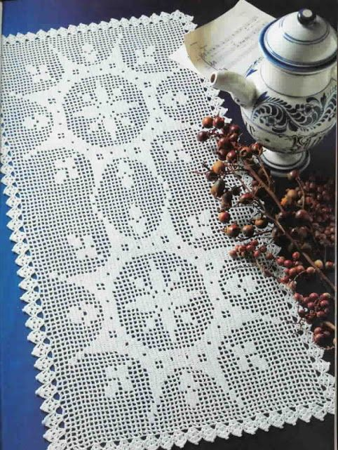Filet Crochet \'Double Feature\' - Free pattern and chart | Caminos y ...
