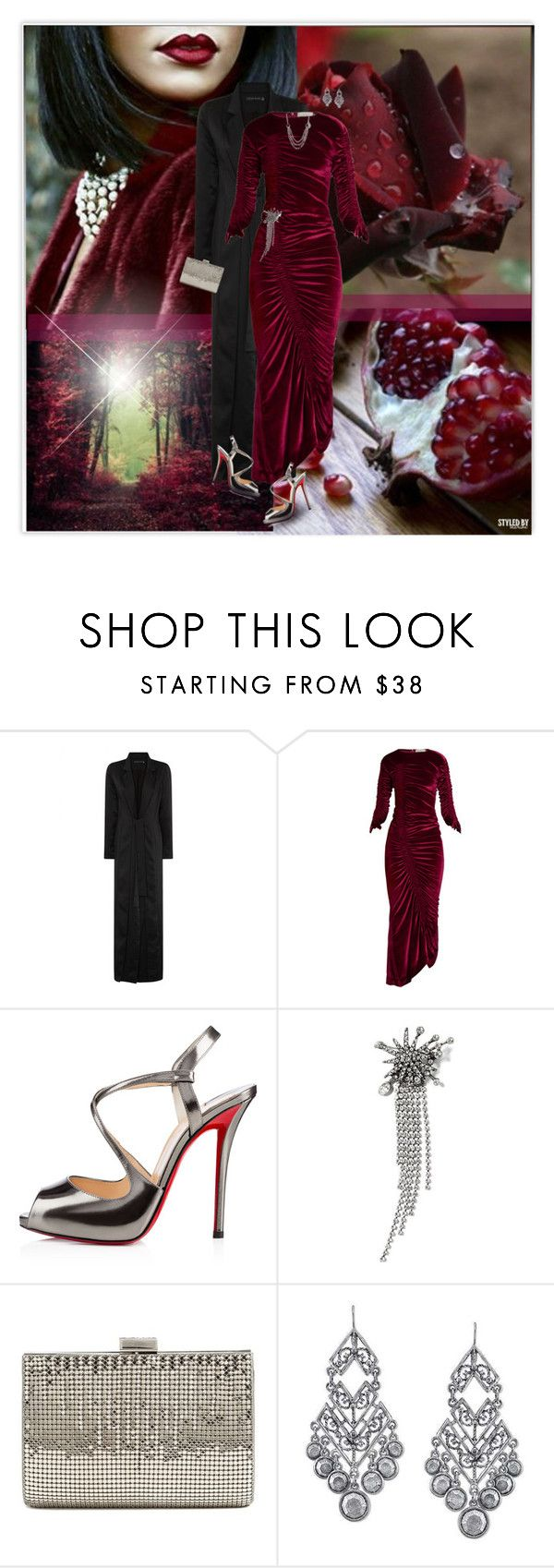 """""""Perfect Party Dress"""" by marion-fashionista-diva-miller ❤ liked on Polyvore featuring Preen, Christian Louboutin, Banana Republic, Whiting & Davis, 1928, formal, partydress, formalwear and HolidayParty"""
