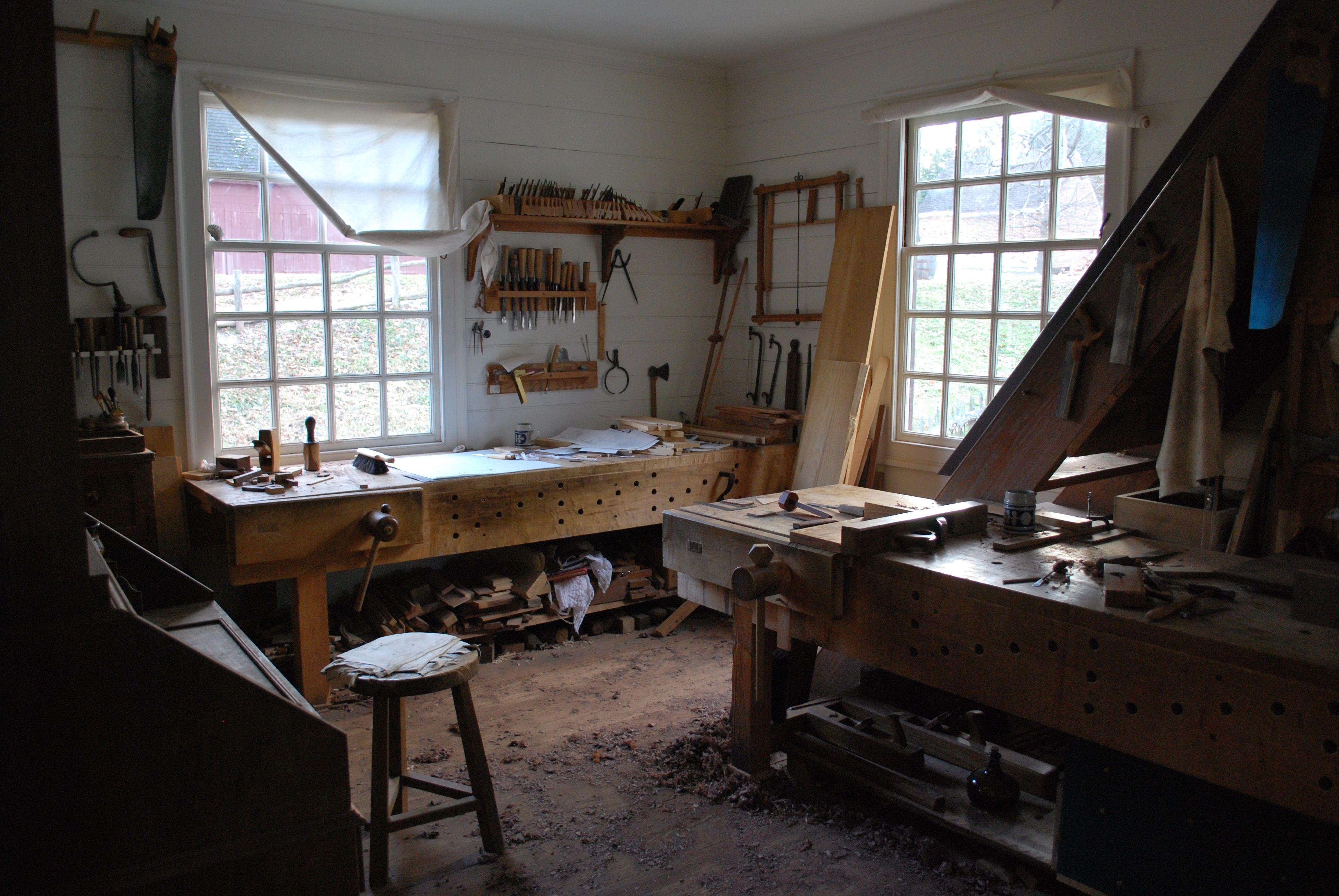 Anthony Hay Workshop @ Colonial Williamsburg | Workshops | Woodworking workshop, Woodworking ...