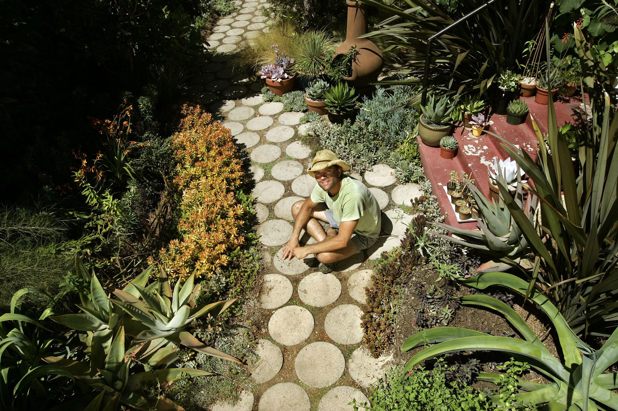 Small Space Garden Ideas La Times. unusual desks. faux wall painting ...