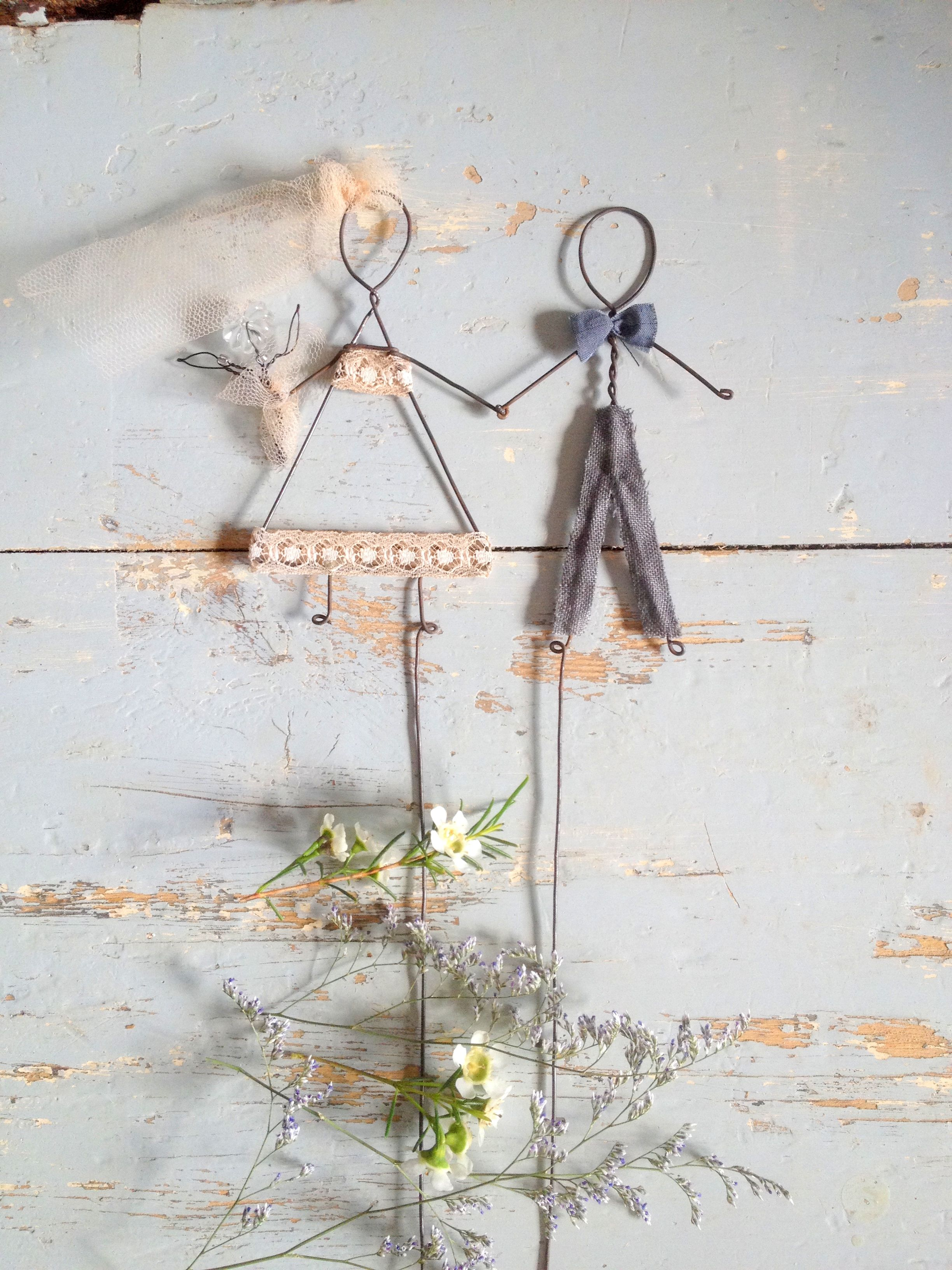 wedding wire cake topper by lebianchemargherite.blogspot.it | Wire ...