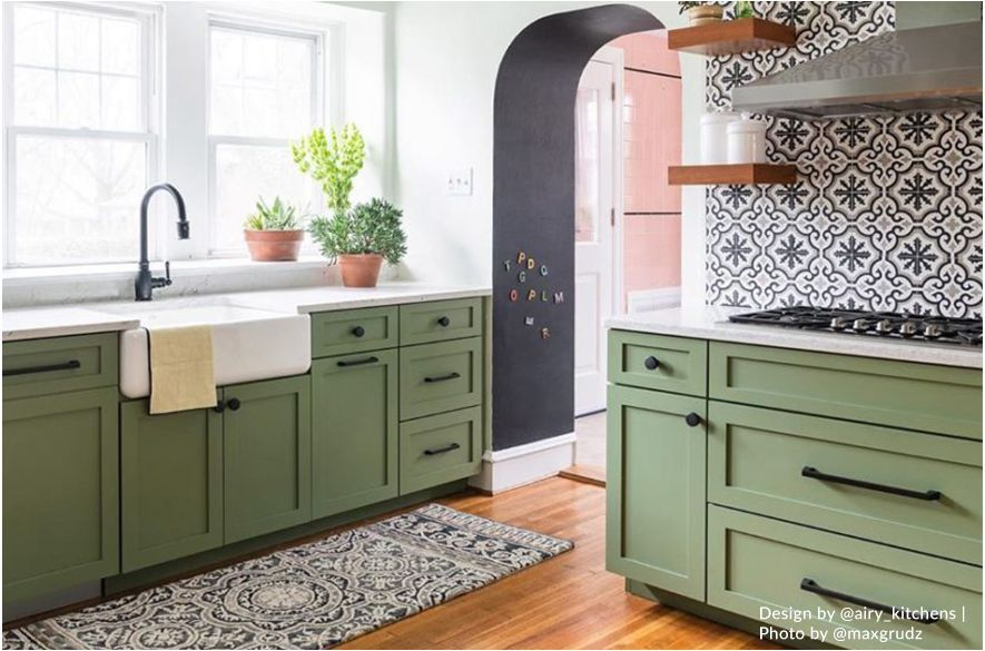 28+ Green shaker cabinets best