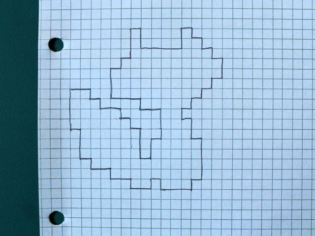 transferred-cross-stitch-pattern-to-graph-paper Sticken - cross stitch graph paper