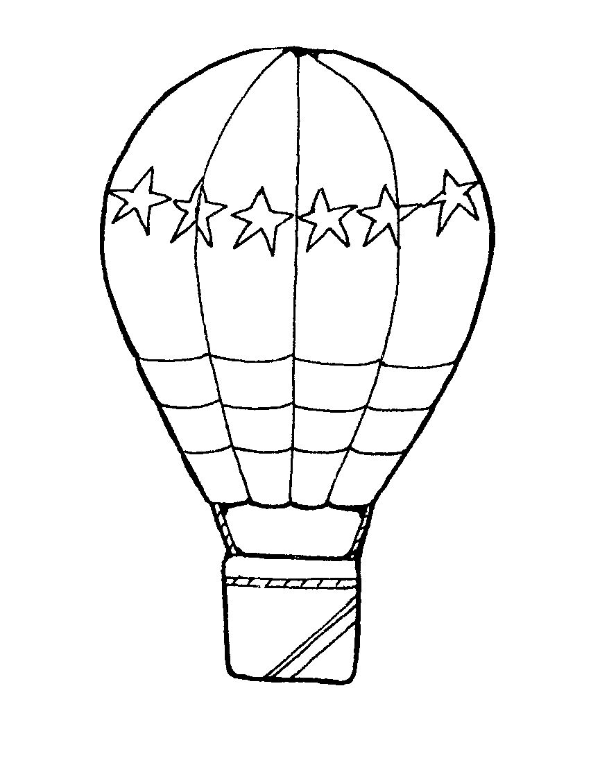 Images For > Hot Air Balloon Clip Art Black And White
