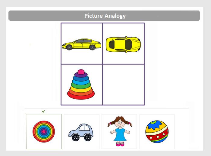 Picture Analogies Sample Question | school | Pinterest