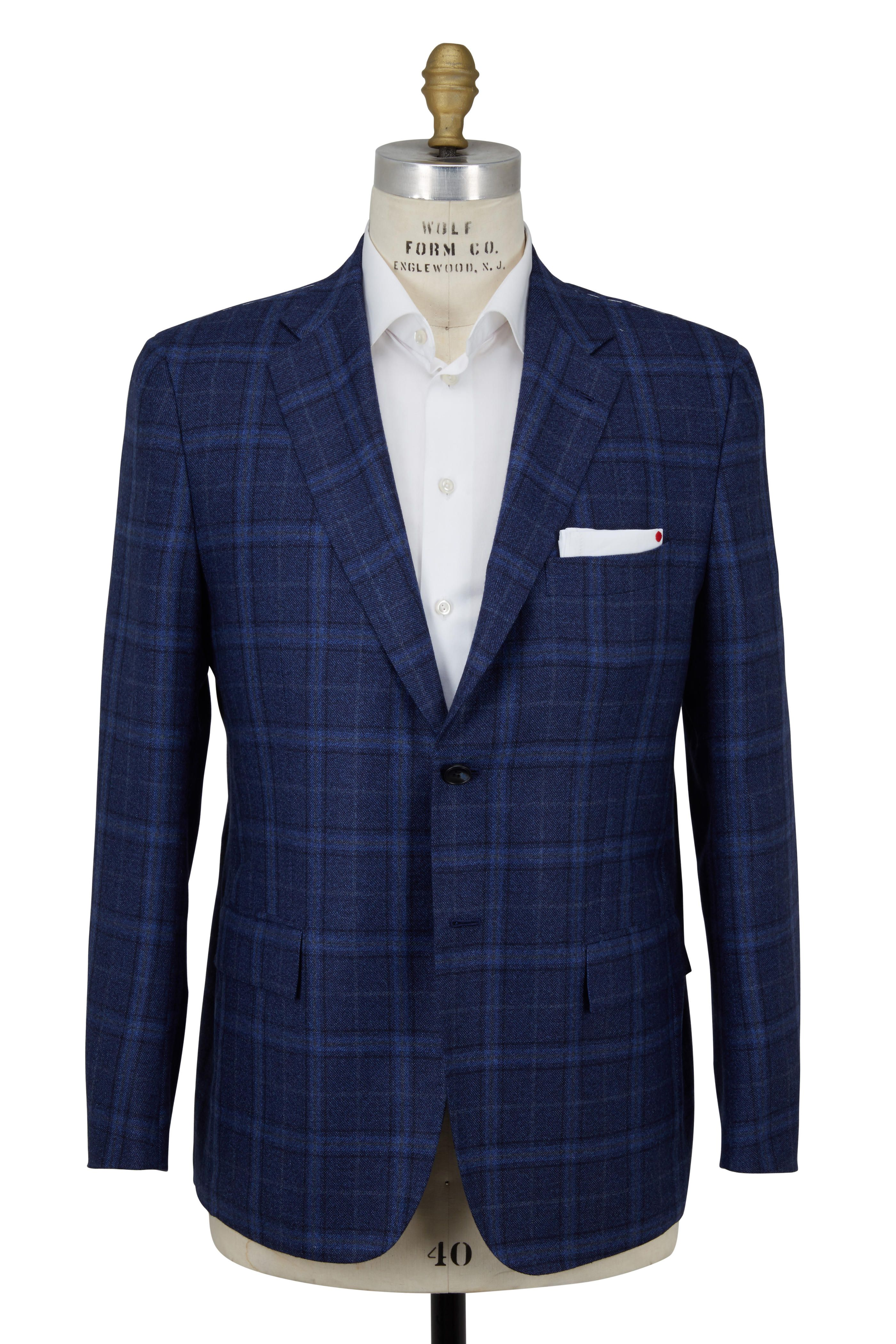 Blue Plaid Cashmere Sportcoat (With images) Blazers for