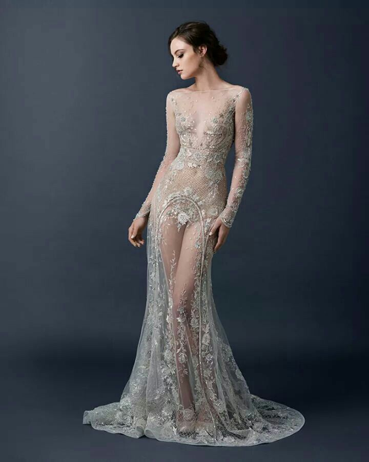 Paolo Sebastian Fall Winter 2015/16 Couture Collection.with beige s ...