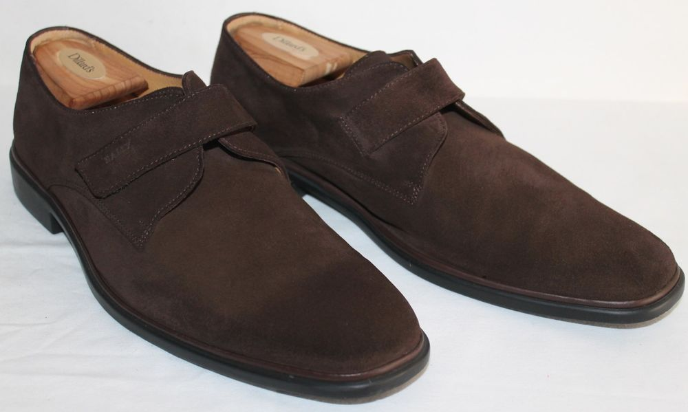 Bally Suede Shoes 10.5E Cabiri Dark