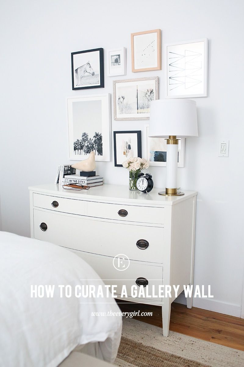 How to curate art for a collage gallery wall minted giveaway