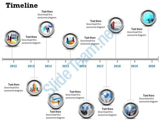 See Business Timeline Roadmap Diagram  Slide  Projets