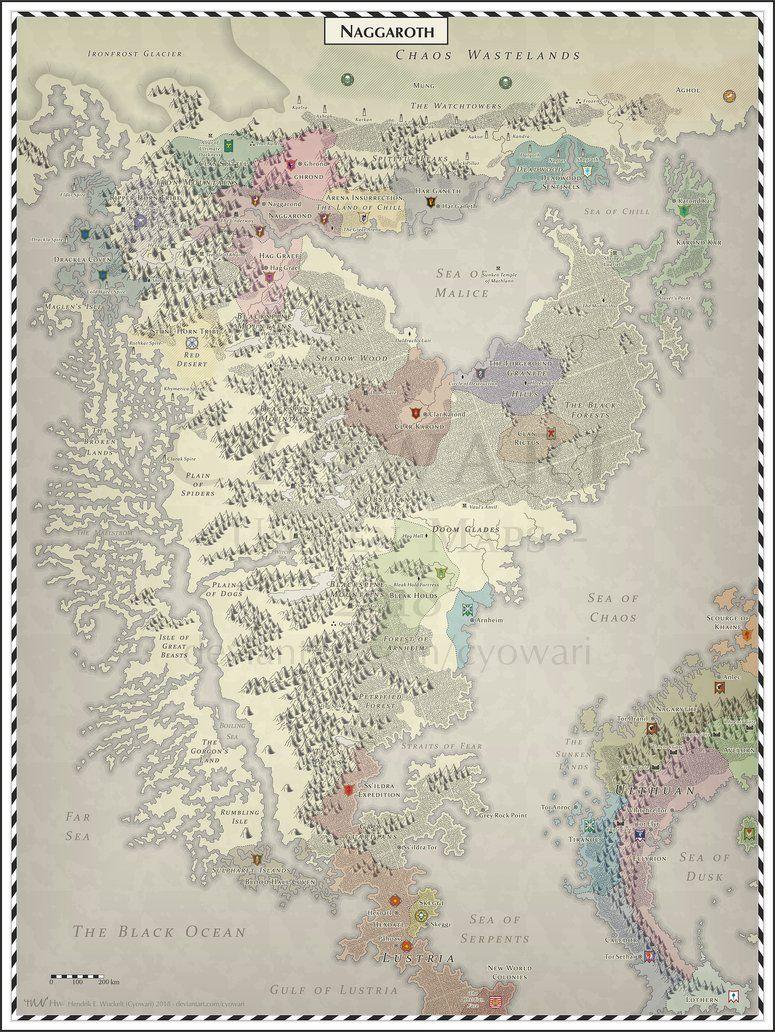 Naggaroth by Cyowari | Warhammer Fantasy in 2019 | Fantasy map ...